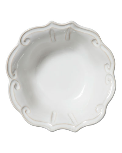 Incanto Stone Baroque Cereal Bowl, White