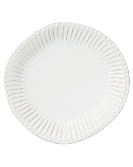 Incanto Stone Stripe Dinner Plate, White