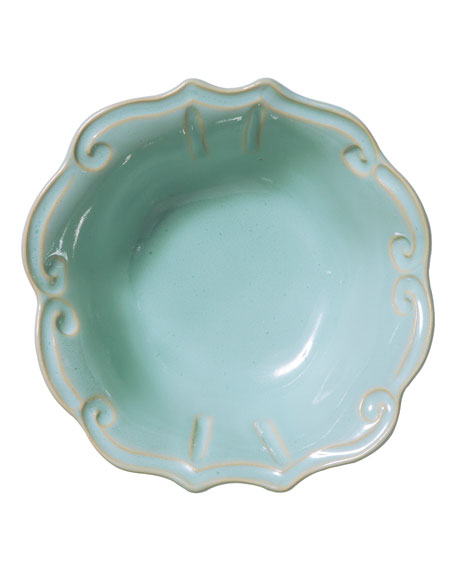 Incanto Stone Baroque Cereal Bowl, Aqua