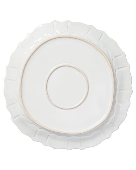 Incanto Stone Baroque Round Platter, White
