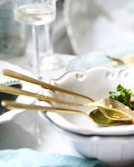 Incanto Stone Baroque Salad Plate, Linen