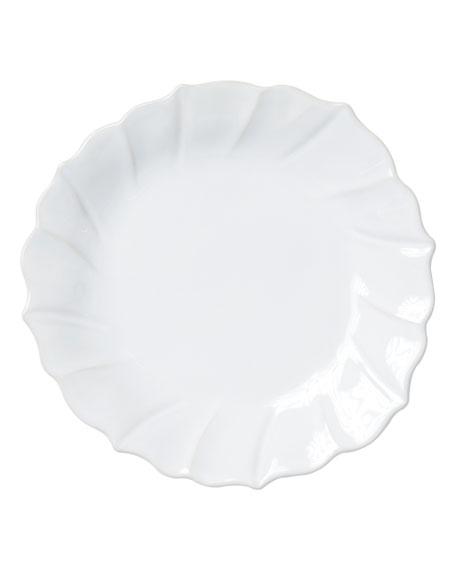 Incanto Stone Ruffle Salad Plate, White