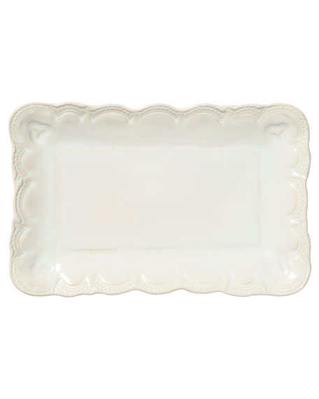 Incanto Stone Lace Small Rectangular Platter, Linen