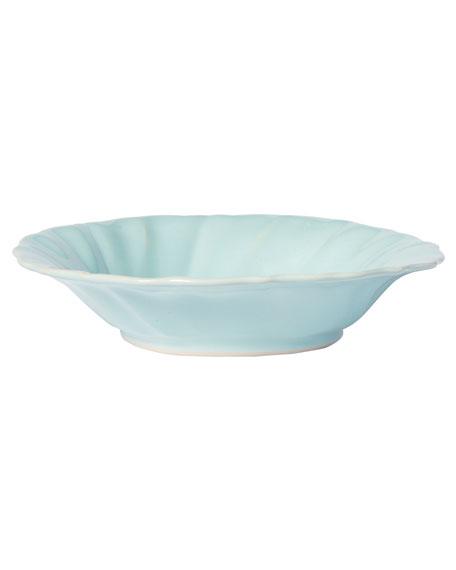 Incanto Stone Ruffle Pasta Bowl, Aqua