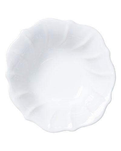 Incanto Stone Ruffle Cereal Bowl, White