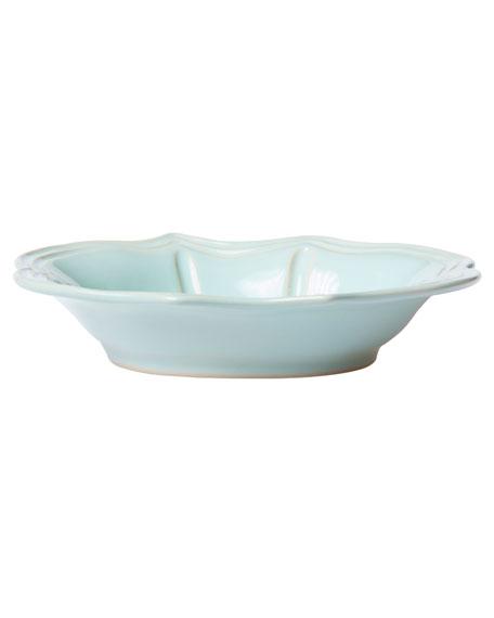 Incanto Stone Baroque Pasta Bowl, Aqua