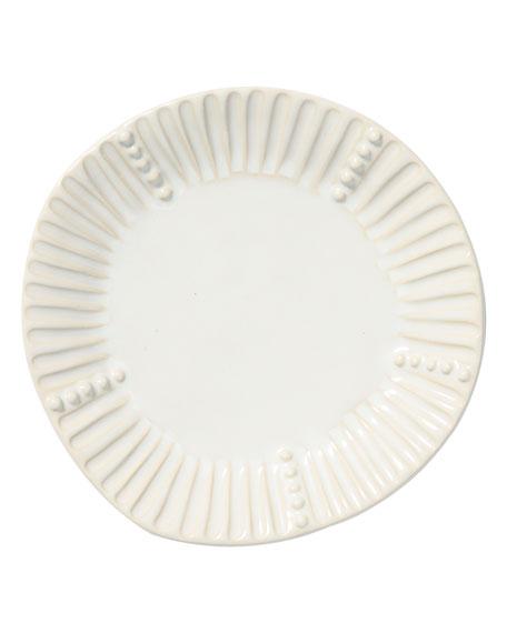 Incanto Stone Stripe Salad Plate, Linen