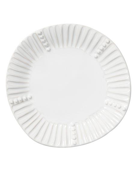 Incanto Stone Stripe Salad Plate, White