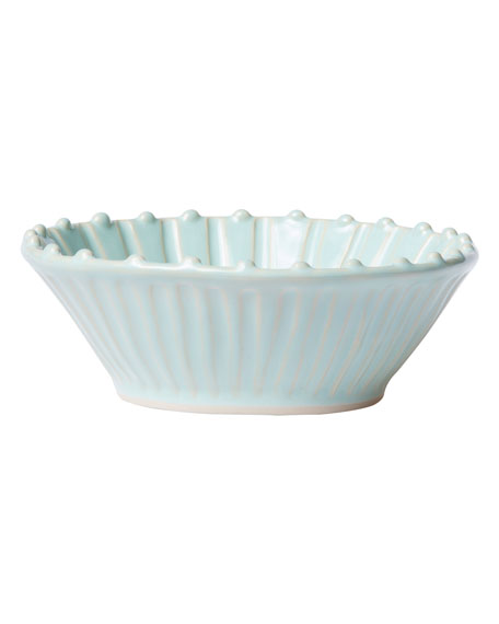 Incanto Stone Stripe Cereal Bowl, Aqua
