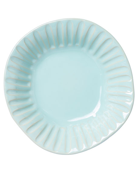 Vietri Incanto Stone Stripe Pasta Bowl, Aqua