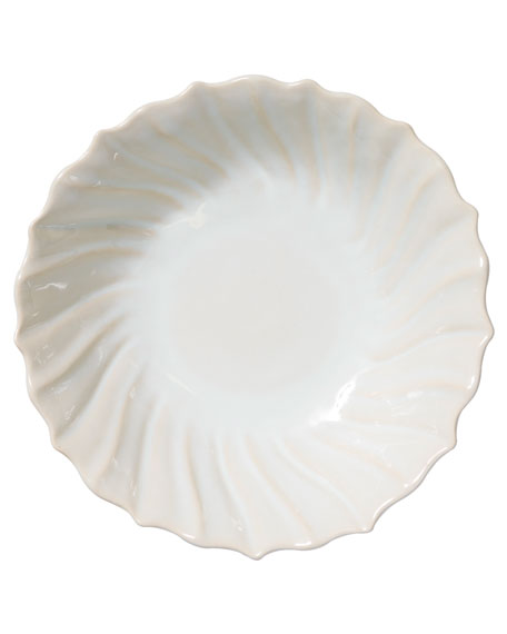 Incanto Stone Ruffle Large Bowl, Linen