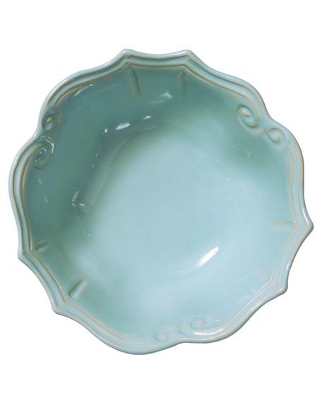 Incanto Stone Baroque Medium Serving Bowl, Aqua