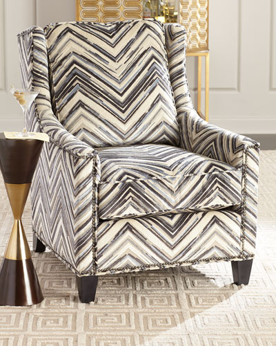 Adley Chevron Stripe Accent Chair
