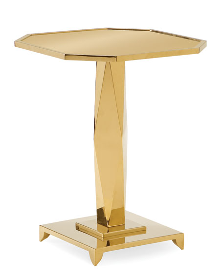 Hermione Pedestal Side Table