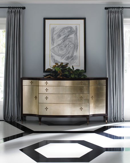Lorene Satin Tuxedo Dresser
