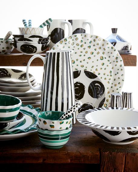 Brushed Dot Scoop Plate, Bowl and Spreader Set