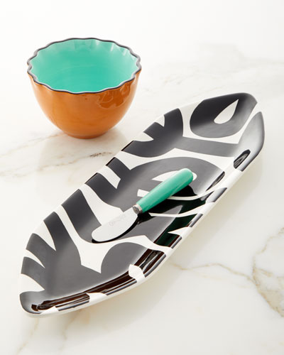 Black Loop de Loo Pointy Platter and Serveware Set