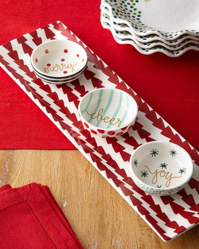 Dart Skinny Tray & Christmas Dip Bowls Set