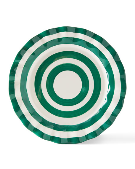 Coton Colors Spot On Ruffle Dinner Plates, Set