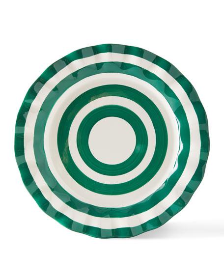 Spot On Ruffle Dinner Plates, Set of 4