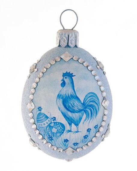 Cock-A-Doodle Petite Egg Ornament