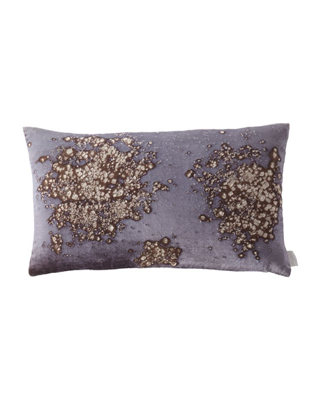 "Mineral on Midnight Moon Pillow, 12"" x 20"""