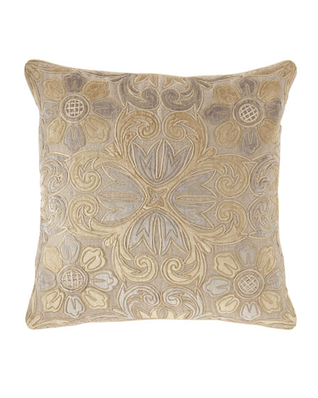 "Linen-Blend Pillow, 23""Sq."