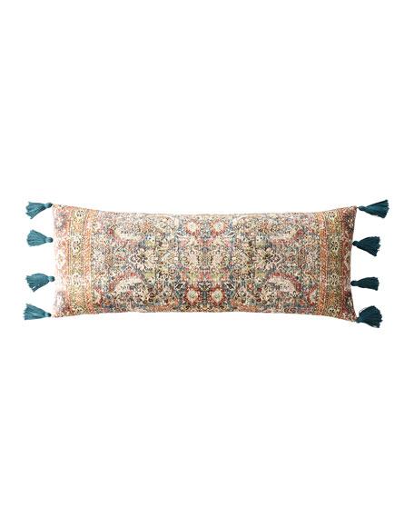 Velvet Pillow with Tassel Ends