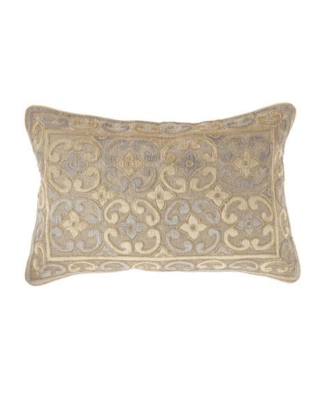 """Linen-Blend Pillow, 14"""" x 22"""""""