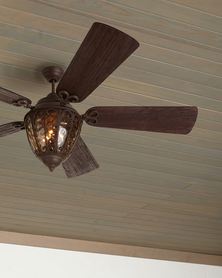 Olivier Outdoor Ceiling Fan with Integral Light Kit, 70""