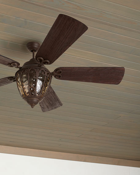 Olivier Outdoor Ceiling Fan with Integral Light Kit,