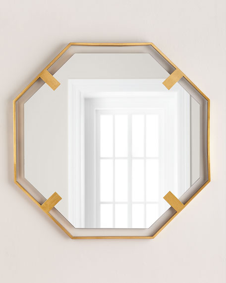 Octagon Mirror, Gold