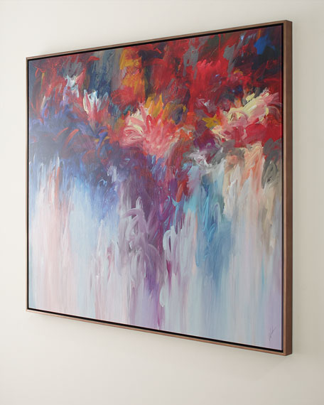 """Floral Fire Giclee on Canvas, 60"""" x 50"""""""