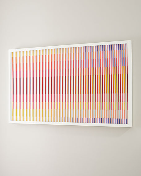 "Colors Flowing, 79"" x 42"""