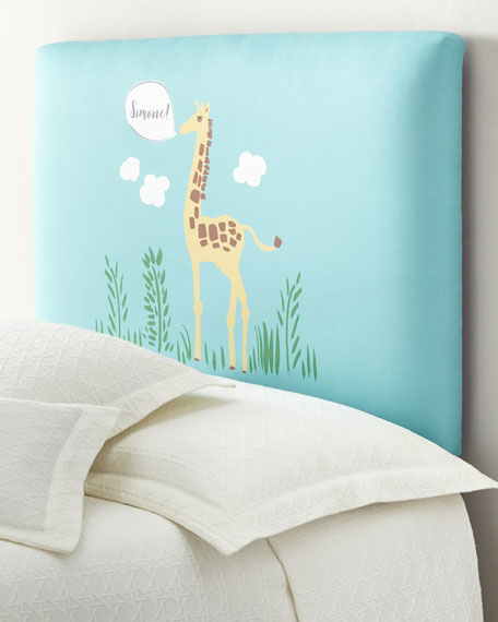 Giraffe Twin Headboard, Personalized