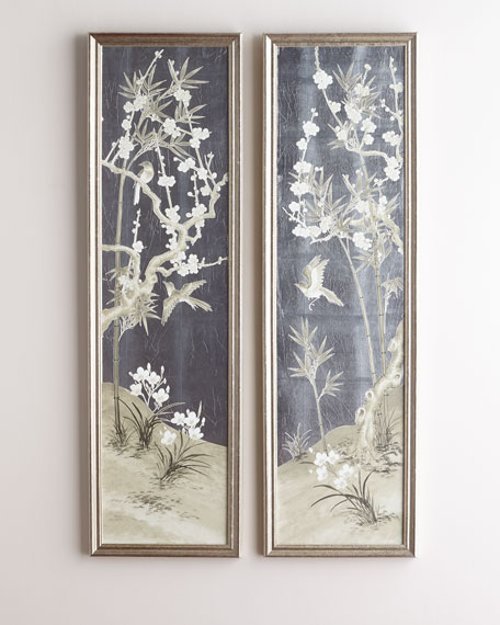 Antique Screen Diptych 2 and Matching Items &