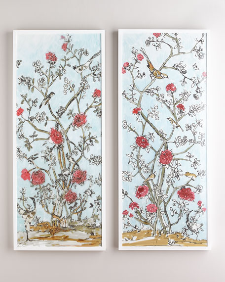 Modern Chinoiserie Diptych