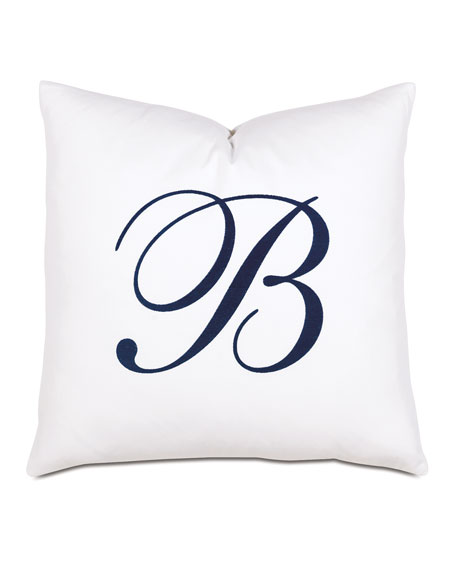 Summerhouse Decorative Monogram Pillow