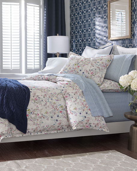 Peacock Alley Chloe Floral Twin Duvet and Matching