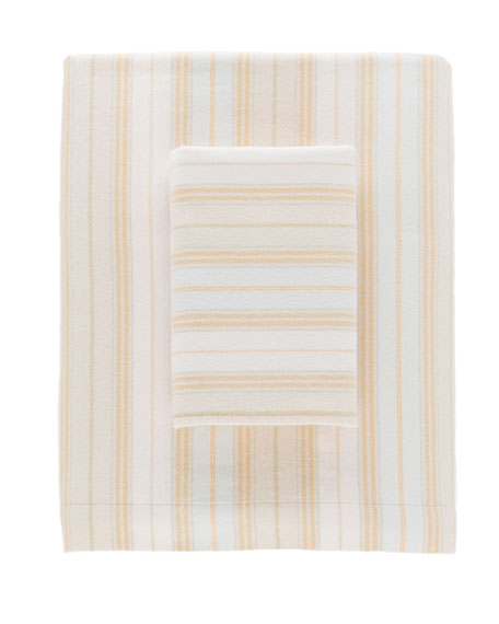 Shelburne Stripe Flannel King Sheet Set
