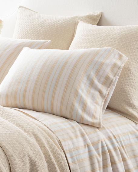 Shelburne Stripe Flannel Queen Sheet Set