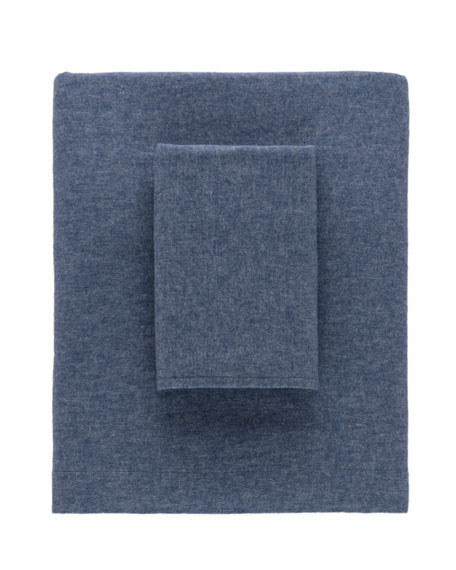 Chambray Flannel King Pillowcases, Set of 2