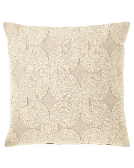 Rhea Oatmeal Knife Edge Pillow