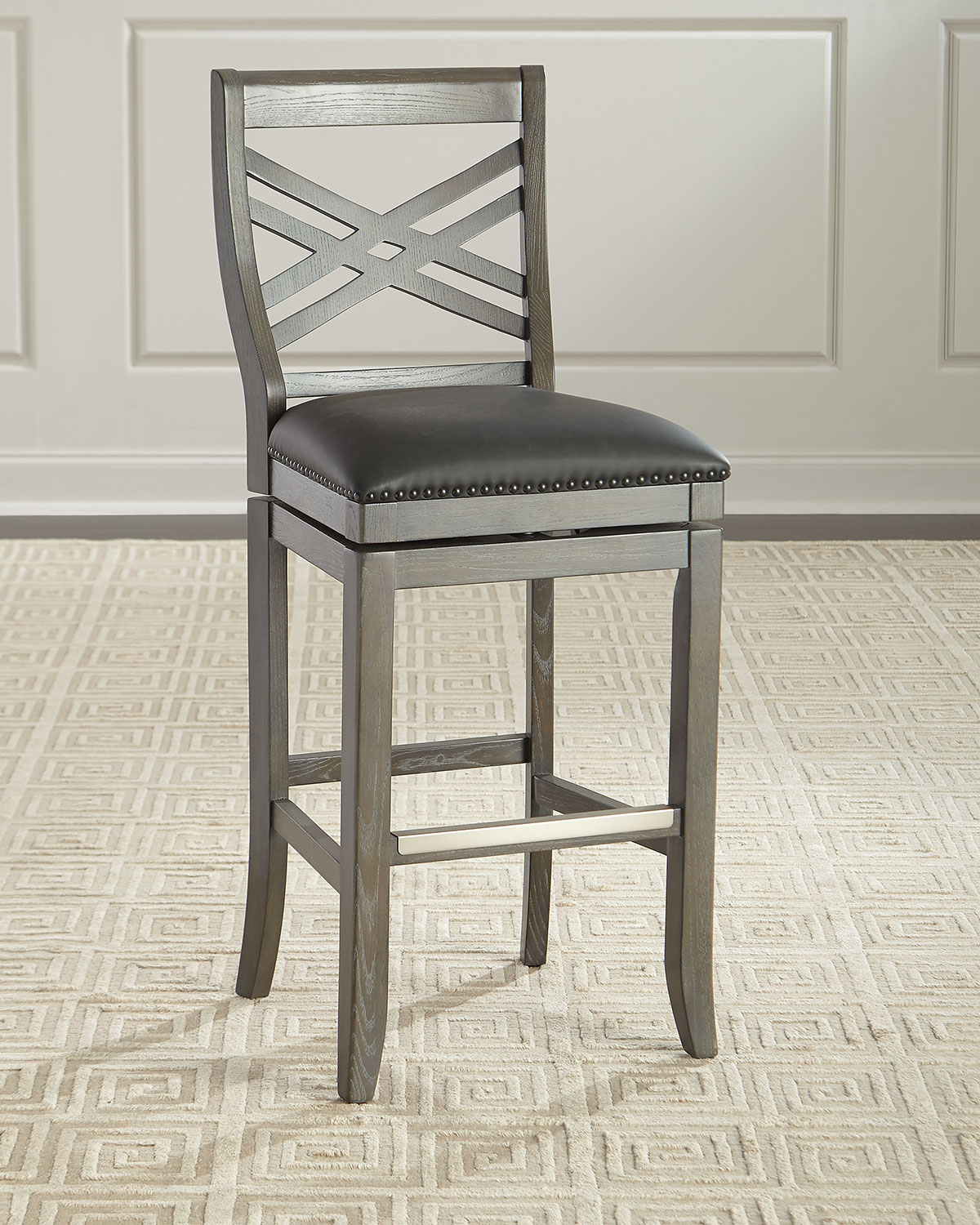 Pryce Leather Bar Stool And Matching Items Matching Items Neiman