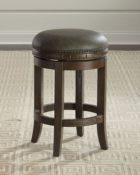 Parrish Leather Counter Stool