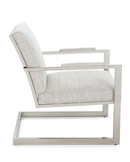 Hyder Stainless Steel Accent Chair