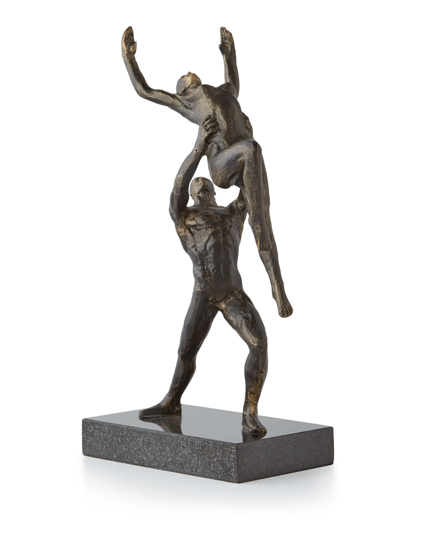 Global Views Metal Sculpture: Global Views Dancers Two-Arm Lift Sculpture