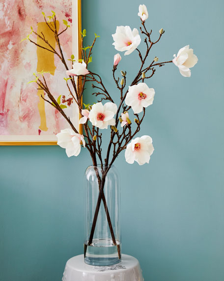 Japanese Magnolia Glass Cylinder