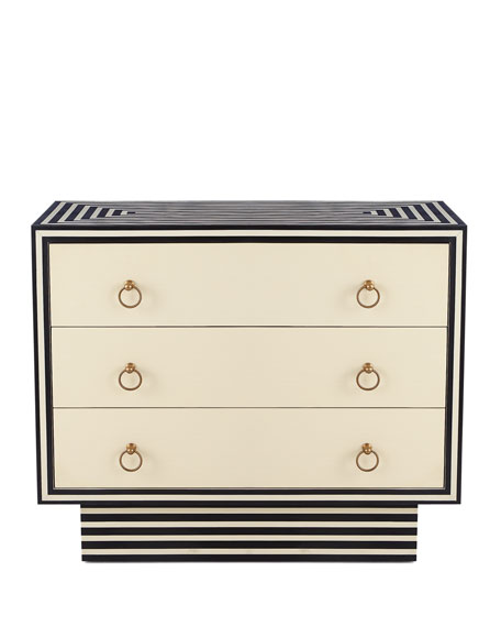 Roxy Three-Drawer Bone Chest