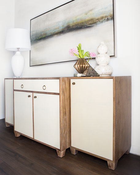 Lowell Parchment Buffet Console